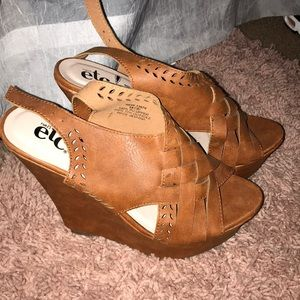 Brown wedges from Rue21!